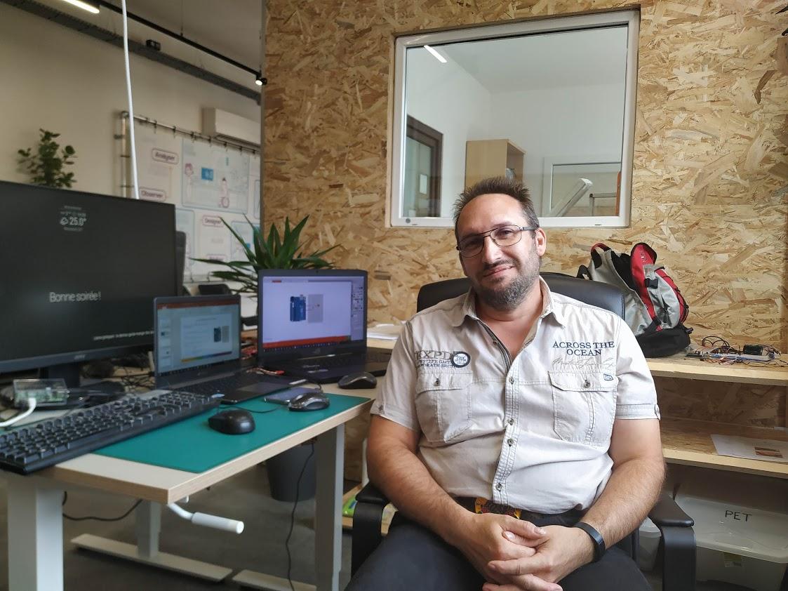 David, le nouvel animateur du Fablab