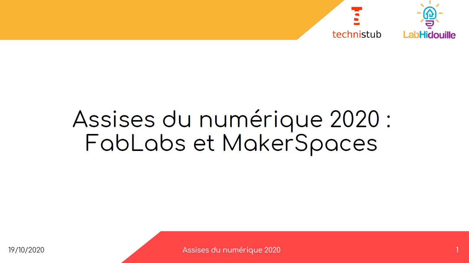 Présentation des fablabs et makerspaces